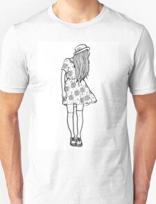 BW Hipster Girl Unisex T-Shirt