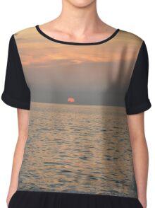 Sunset Splash Chiffon Top