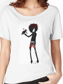 EMO- Rebel Punk Crow Women's Relaxed Fit T-Shirt