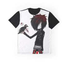 EMO- Rebel Punk Crow Graphic T-Shirt