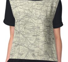 Vintage WW1 Map - American Offensives France 1918 Women's Chiffon Top