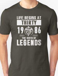 LIFE BEGINS AT 30 Unisex T-Shirt