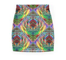 """Scarab"" abstract graphic pattern Mini Skirt"