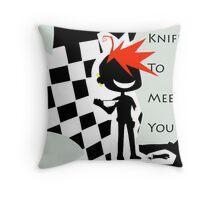 EMO- Knife To Meet You Throw Pillow