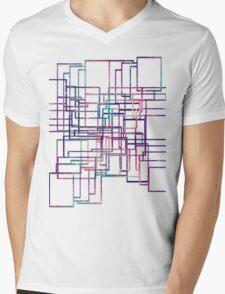 cool patchwork  Mens V-Neck T-Shirt