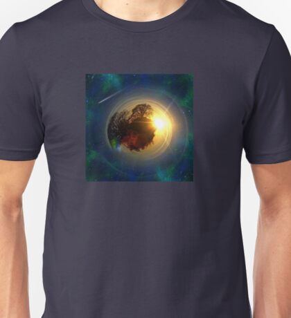 Mini-Planet Lonely Tree Spaced Unisex T-Shirt