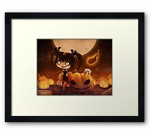 EMO- Halloween Costume Outfit Framed Print