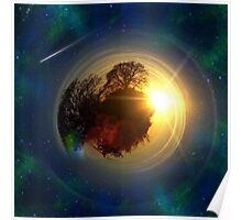 Mini-Planet Lonely Tree Spaced Poster