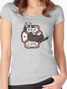 Sea Life: Otter Women's Fitted Scoop T-Shirt