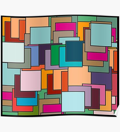 Patch  patchwork abstract  pattern  Poster
