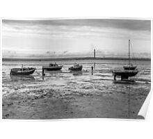 Thorpe Bay, low tide Poster