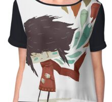 EMO- Peacock Feather Eyes Chiffon Top