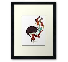 EMO- Peacock Feather Eyes Framed Print