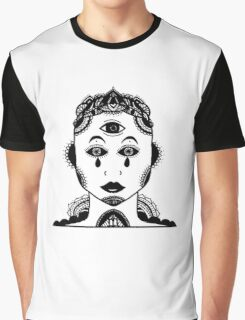 Face with third eye and cool things Graphic T-Shirt