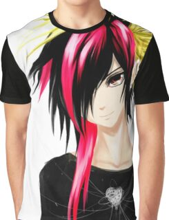 EMO- Colorful Chipper Hair Graphic T-Shirt