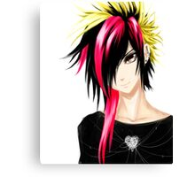 EMO- Colorful Chipper Hair Canvas Print