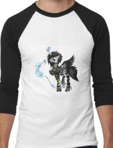 EMO- Black Unicorn Karaoke  Men's Baseball ¾ T-Shirt