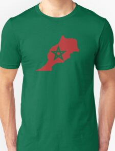 Flag Map of Morocco  Unisex T-Shirt