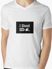 I shoot raw Mens V-Neck T-Shirt