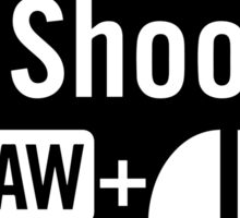 I shoot raw Sticker