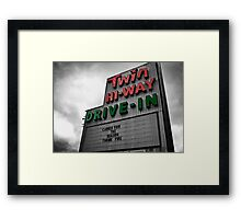 Drive-In Theater Selective Color II Framed Print