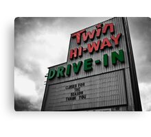 Drive-In Theater Selective Color II Canvas Print