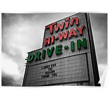 Drive-In Theater Selective Color II Poster