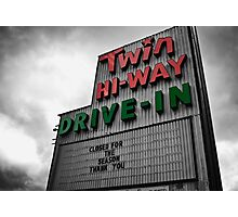 Drive-In Theater Selective Color II Photographic Print