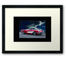 1959 Chevrolet Corvette Convertible w Border Framed Print