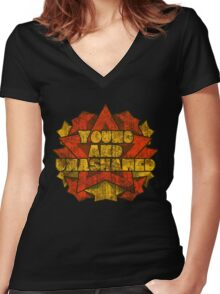 Young And Unashamed - Stars Women's Fitted V-Neck T-Shirt
