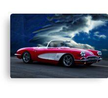 1959 Chevrolet Corvette Convertible wo Border Canvas Print