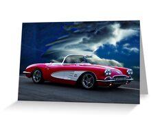 1959 Chevrolet Corvette Convertible wo Border Greeting Card
