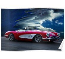 1959 Chevrolet Corvette Convertible wo Border Poster