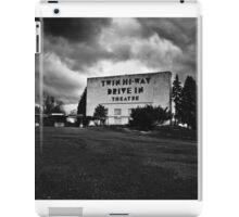 Drive-In Theater B&W iPad Case/Skin