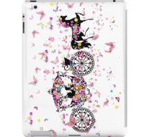 Colorful Butterflies & Floral Wedding Horse & Carriage iPad Case/Skin