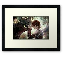HTTYD - How to Train Your Dragon - Hiccup & Toothless Framed Print