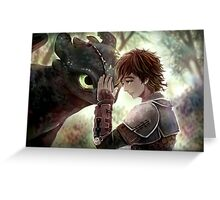 HTTYD - How to Train Your Dragon - Hiccup & Toothless Greeting Card