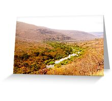 Mountain River Landscape Greeting Card