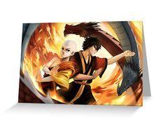 Avatar the Last Airbender - Aang & Zuko Greeting Card