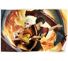 Avatar the Last Airbender - Aang & Zuko Poster