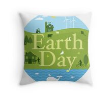Earth Day I Throw Pillow