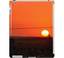Barbed Wire at Sunset iPad Case/Skin