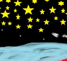 Sternen bild mit abstrakt  Sticker