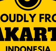 Proudly From Jakarta Indonesia Sticker