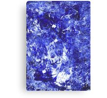 Blue Acrylic on Canvas Canvas Print