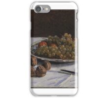 Still Life - Grapes and Walnuts on a Table iPhone Case/Skin