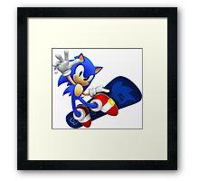 Sonic Snowboard Framed Print