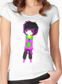 EMO- Purple Solid Vintage Women's Fitted Scoop T-Shirt