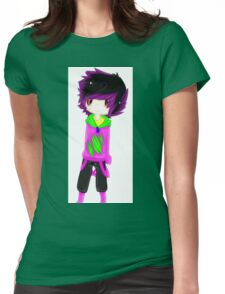 EMO- Purple Solid Vintage Womens Fitted T-Shirt