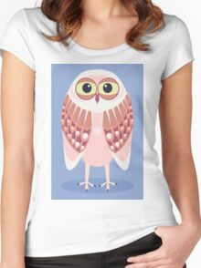 OWL SCOWL  Women's Fitted Scoop T-Shirt
